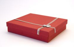 Red Gift Box. Against the Light Background Stock Photography