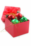 Red gift box for celebration. Royalty Free Stock Images