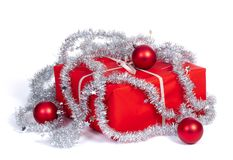 Red gift box for christmas Royalty Free Stock Photo