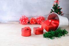 Red Gift Box Christmas stock photo