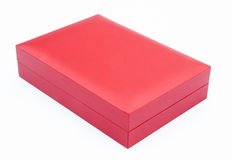 Red gift box closed Royalty Free Stock Photos
