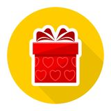 Red Gift box icon Royalty Free Stock Photos