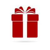Red Gift box icon. Simple  icon Stock Images