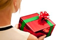 Red Gift Box In Hands Royalty Free Stock Photo
