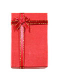 Red gift box isolated Royalty Free Stock Photography
