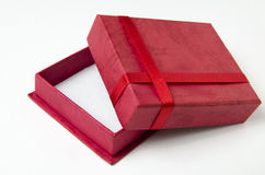 Red gift box isolated Stock Photo