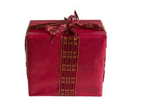 Red gift box isolated Royalty Free Stock Photos