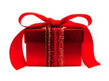 Red gift box isolated Stock Images