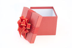 Red Gift box isolated for love Stock Photos