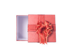 Red Gift box isolated for love Stock Image