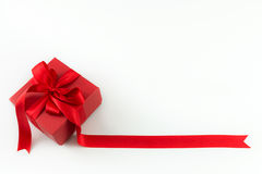 Red gift box Royalty Free Stock Photography
