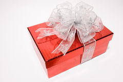 Red gift box isolated on white background Stock Photography