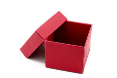 Red Gift Box with open cap Stock Photo