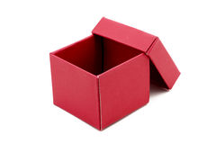 Red Gift Box with open cap Royalty Free Stock Image