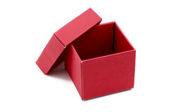 Red Gift Box with open cap Stock Images