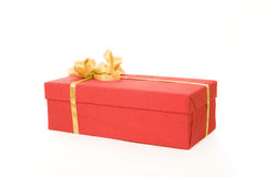 Red gift box over white background Royalty Free Stock Photo
