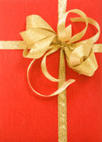 Red gift box over white background Royalty Free Stock Image