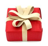 A red gift box Stock Photos