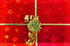 Red gift box pattern Royalty Free Stock Photos