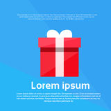 Red Gift Box Present Flat Vector Royalty Free Stock Images