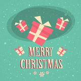 Red Gift Box Present Merry Christmas Happy New Royalty Free Stock Photography