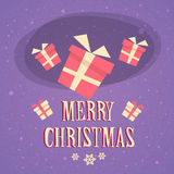 Red Gift Box Present Merry Christmas Happy New Royalty Free Stock Photos