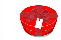 Red gift Box with red bow Royalty Free Stock Images