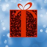 Red Gift box with red ribbon. EPS 8 Stock Images