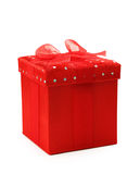 Red gift box with ribbon Royalty Free Stock Image