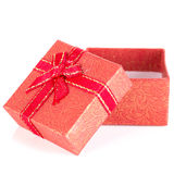 Red gift box with ribbon bow Stock Image