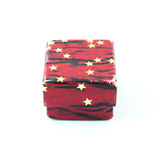 Red gift box with star texture Stock Images
