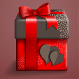 Red gift box. Royalty Free Stock Image