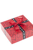 Red gift box Royalty Free Stock Photo