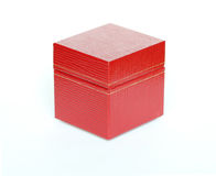 Red gift box on a white background Royalty Free Stock Images