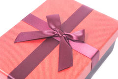 Red gift box Royalty Free Stock Images