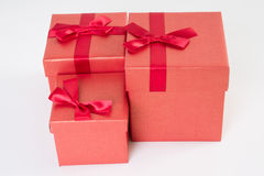 Red gift box on white Stock Photography