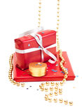 Red gift boxes. Royalty Free Stock Photo