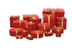 Red gift boxes Royalty Free Stock Photos