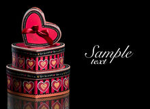 Red gift boxes Royalty Free Stock Photography