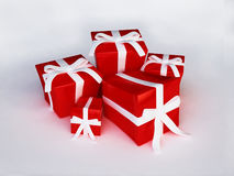 REd Gift Boxes in 3D Royalty Free Stock Photos