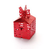 Red gift Boxes. Auspicious Chinese Red gift Boxes are on white background Stock Images