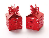 Red gift Boxes Stock Photography