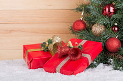 Red Gift Boxes Royalty Free Stock Images