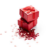 Red gift boxes Stock Image