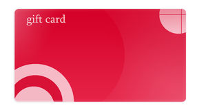 Red Gift Card Royalty Free Stock Photography