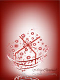 Red gift card. For christmas and valentine's day stock illustration