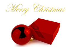 Red gift for the christmas Royalty Free Stock Images