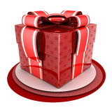 Red gift Stock Photography