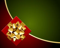 Red gift with gold bow Stock Images