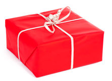 Red gift isolated on white Stock Image